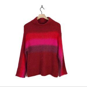 Rag & Bone Holland Stripe Pink Ombre Silk Sweater